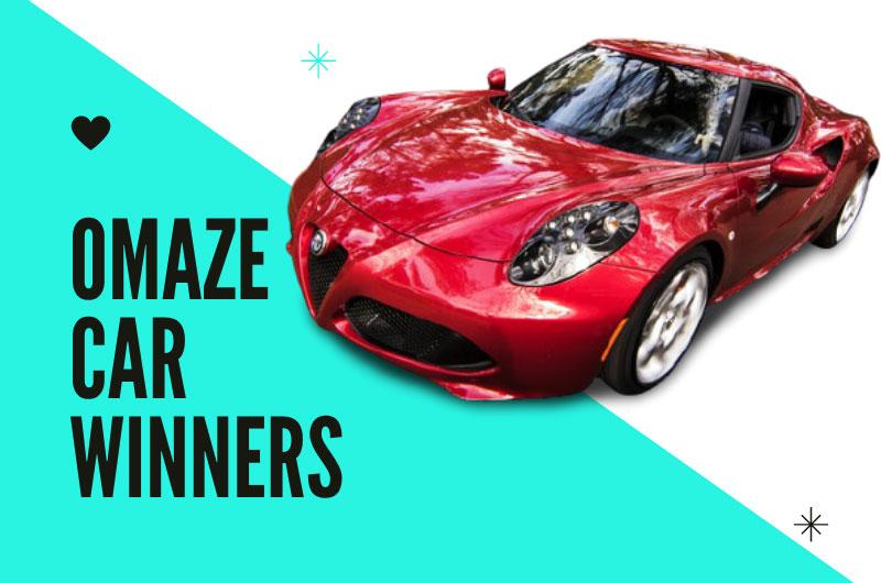 Omaze car Winners in 2020