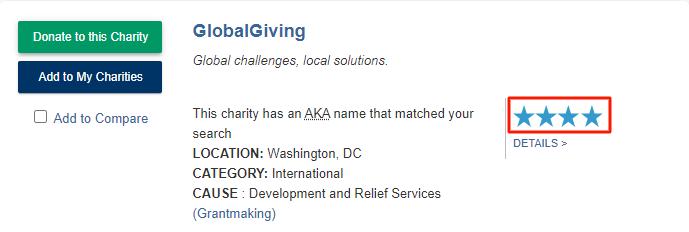globalgiving charity navigator